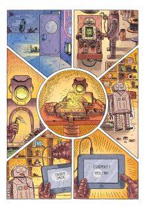"""Utdrag fra tegneserien """"Input Jack"""" som ble publisert i antologien """"Smuss"""" (Cappelen Damm, 2014)"""