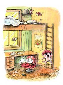 """Illustrasjon fra boken """"Fillip flipper ut"""" (Cappelen Damm, 2015)"""