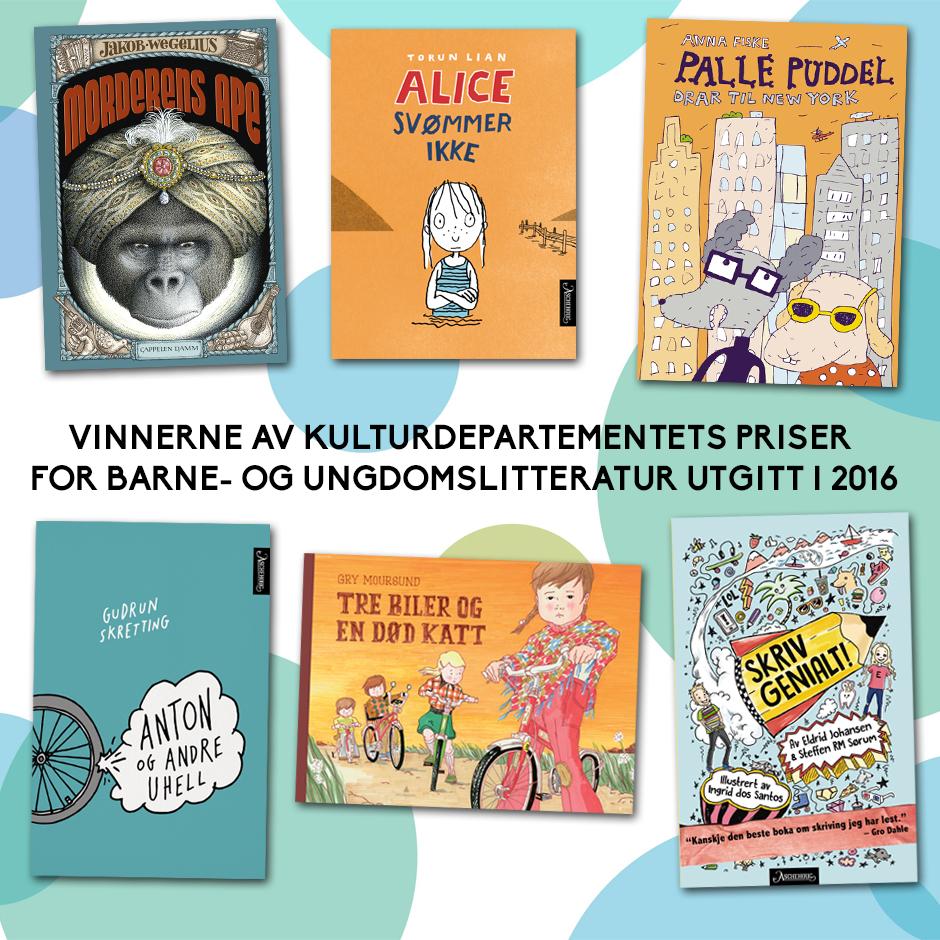 Vinnere kulturdepartementets priser for 2016