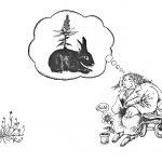 Drømmen om de blomstrende kaninene. En fabel. 1979