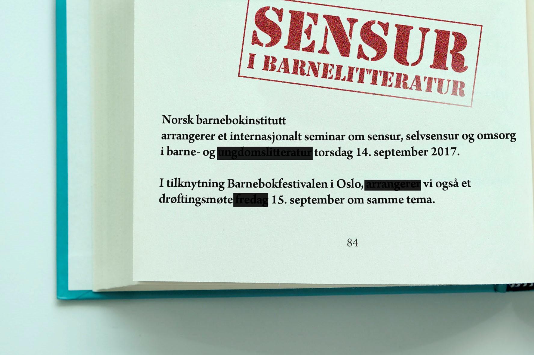 Sensur, selvsensur og omsorg i barnelitteraturen - heldagsseminar 14. september