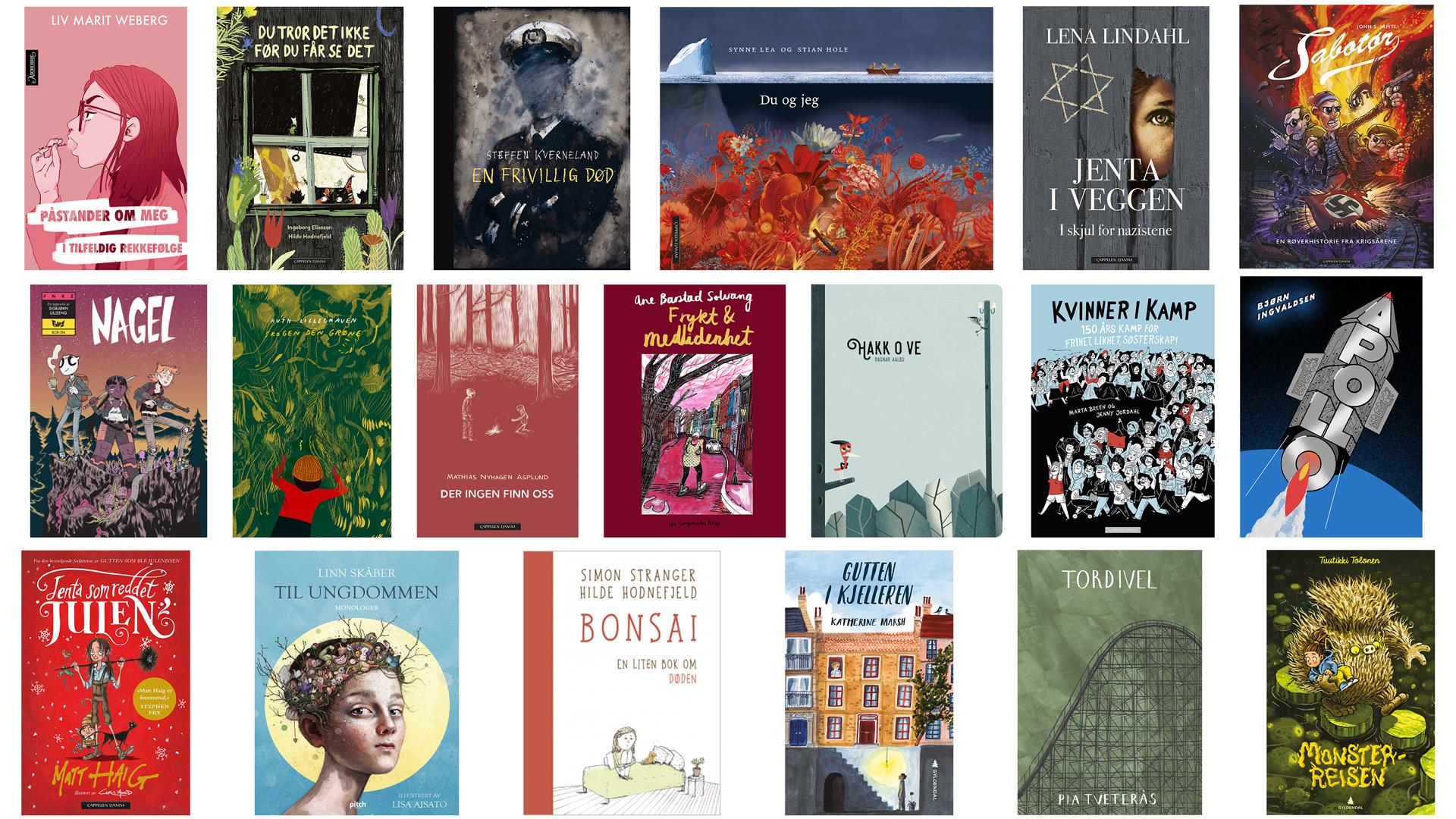 Nominasjoner til Kulturdepartementets priser for barne- og ungdomslitteratur utgitt i 2018