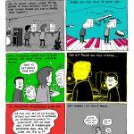 'Bad Trip 1996' ,tegneserie fra 'Sannhet på boks: En hyllest til Raga Rockers', 2016, C og C records