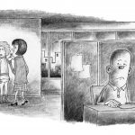 'Mobbing' illustrasjon for magasinet Velferd, 2014, Velferd