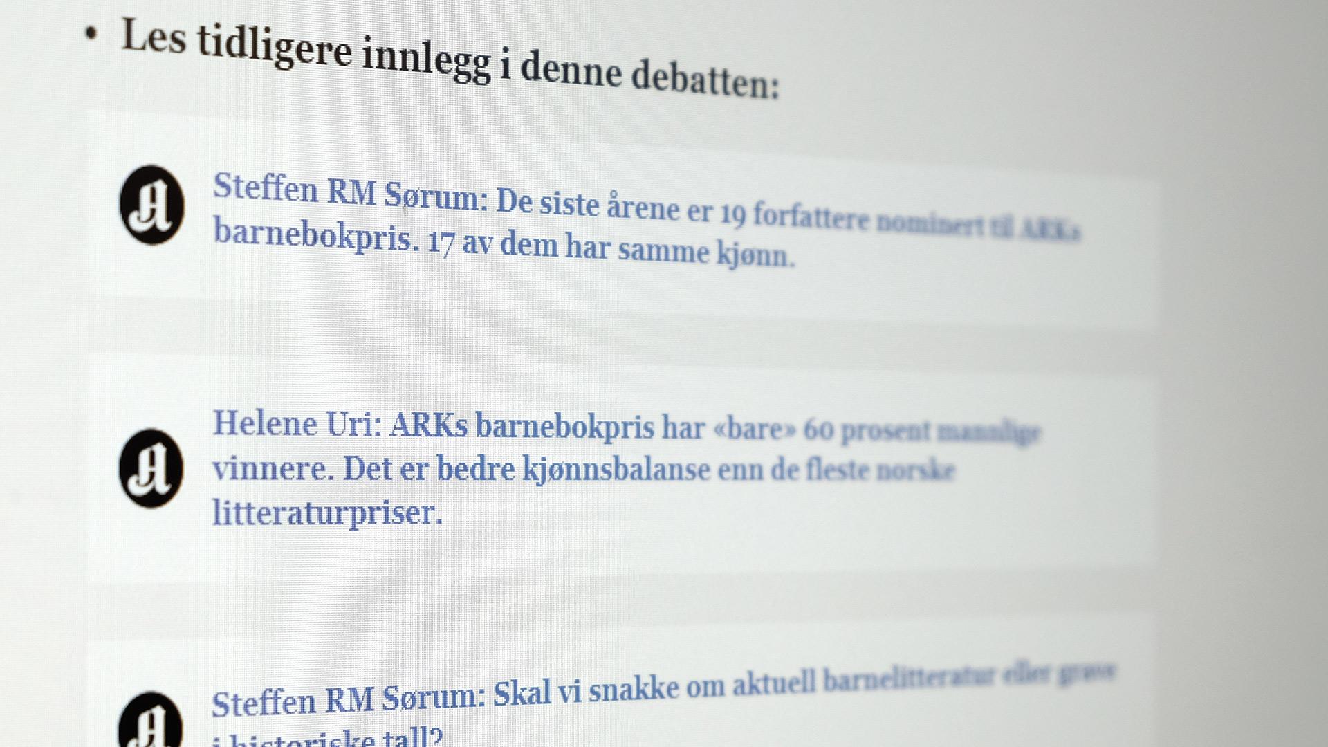 Debatten om kjønn i nominasjonene til ARKs barnebokpris