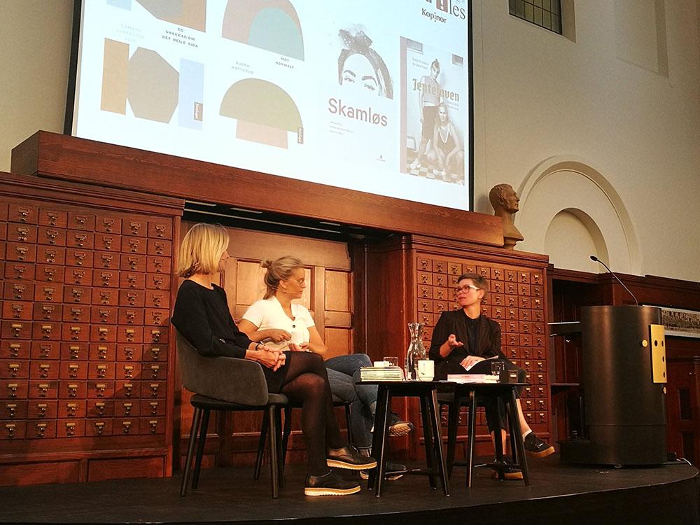 Therese Tungen og Mina Méd i samtale med Hilde Slåtto