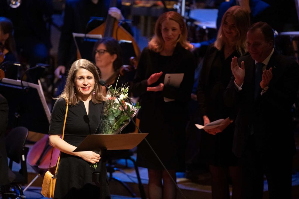Kristin Roskifte mottok Nordisk råds barne- og ungdomslitteraturpris