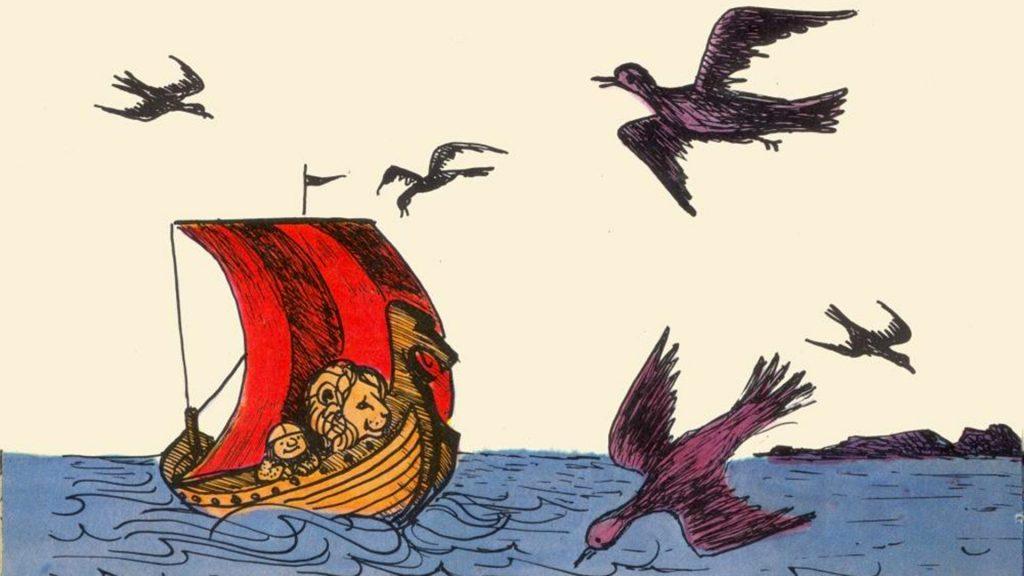 Bilde fra boka Den lille vikingen