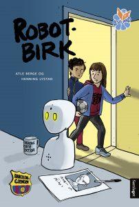 Forside til «Robot-Birk» (Atle Berge, Samlaget 2019)