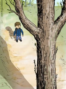 Illustrasjon fra «Trærne skyter knopper» (Gunnar Opstad, Aschehoug 2015)