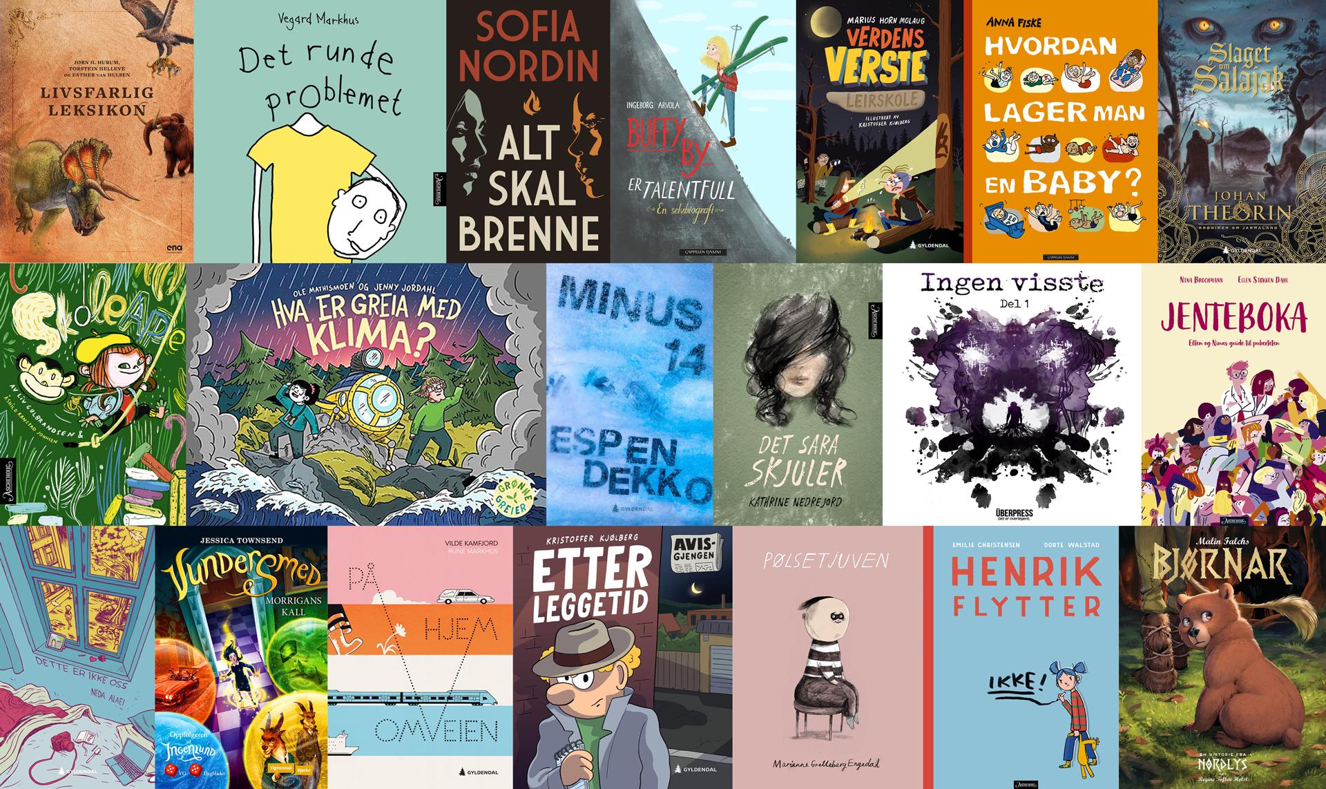 Nominasjoner til Kulturdepartementets priser  for barne- og ungdomslitteratur utgitt i 2019