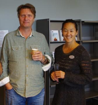 Hovedlærer Widar Aspeli og NBIs seniorforsker Lin Prøitz. Foto: NBI